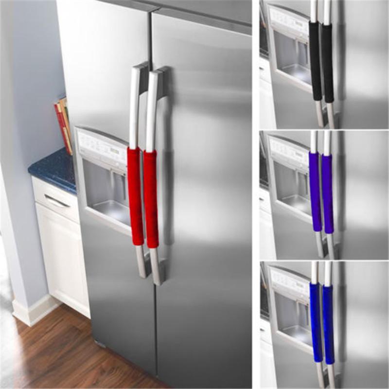 Four Micro-ondes Poignée De Porte Couvre Gant Dentelle Protéger Cover Maison 2pc Réfrigérateur