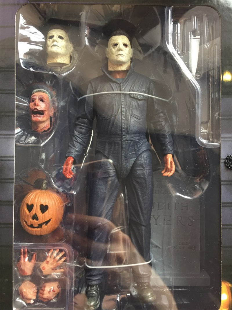 Pumpkin With Led Light Halloween Ultimate Michael Myers Action Figure Collectable Model Toy Doll Gift (008)