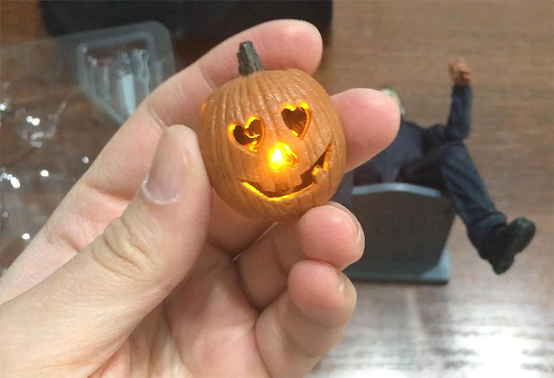 Pumpkin With Led Light Halloween Ultimate Michael Myers Action Figure Collectable Model Toy Doll Gift (08)