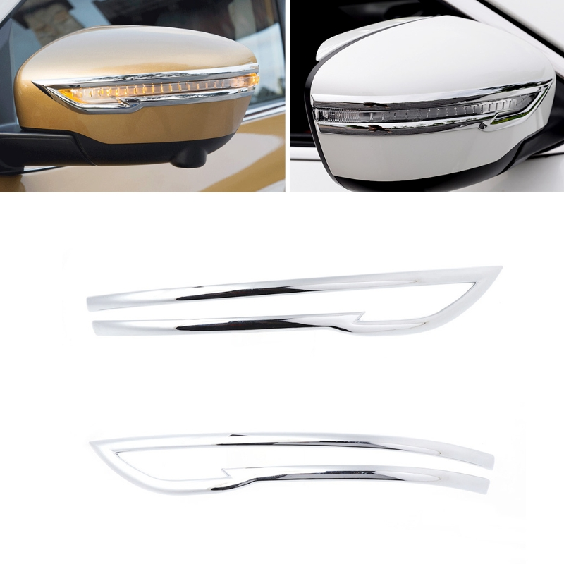 For Nissan Qashqai 2014-2017 Chrome ABS Rearview Mirror Switch Button Cover Trim