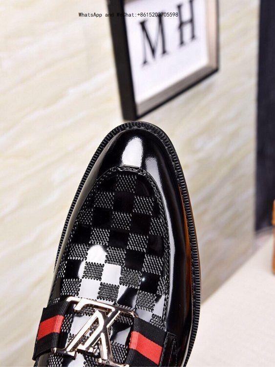 Zapatos de marca Imported Fabric Original Resistente al desgaste Suela antideslizante Contraído en blanco y negro vestido de hombre Ocio Casual de negocios para hombres