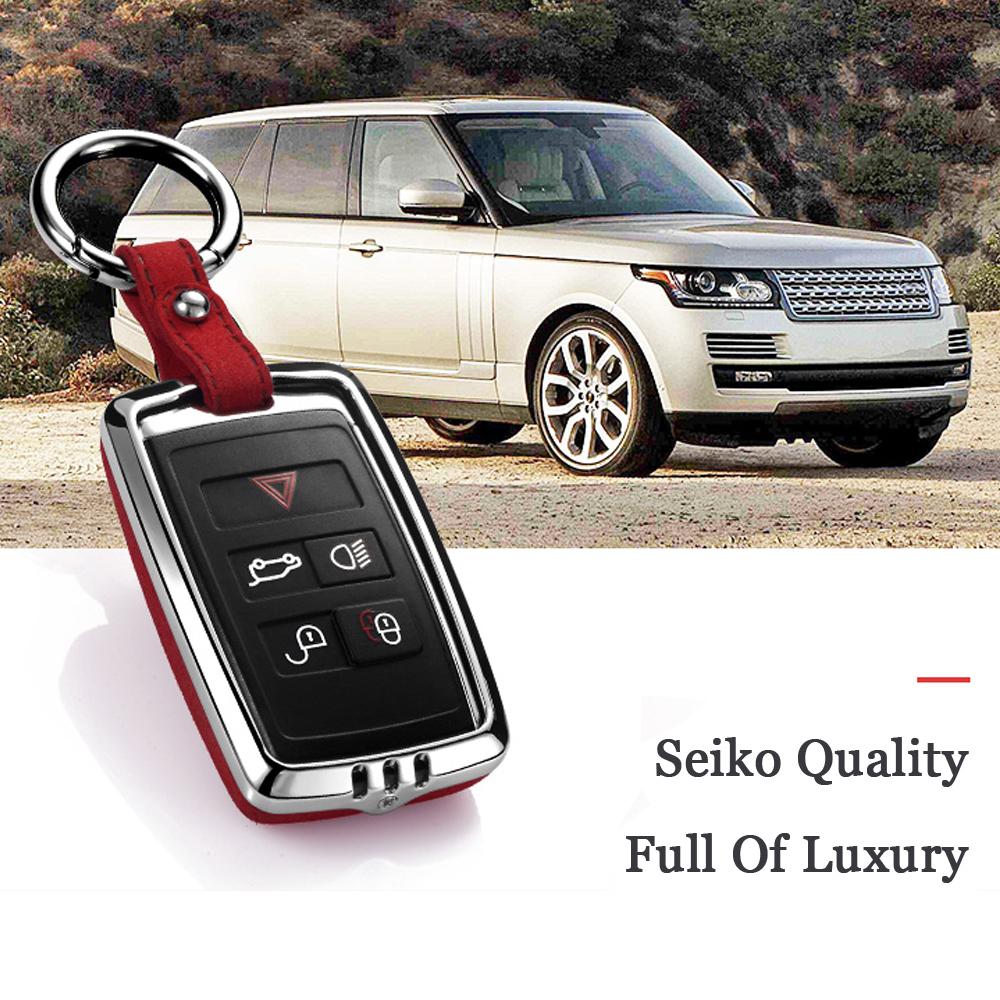 Coque Cl/é pour Range Rover Cover T/él/écommande Voiture 5 Boutons pour Land Rover Evoque Sport LR4 Discovery TDV6 Jaguar