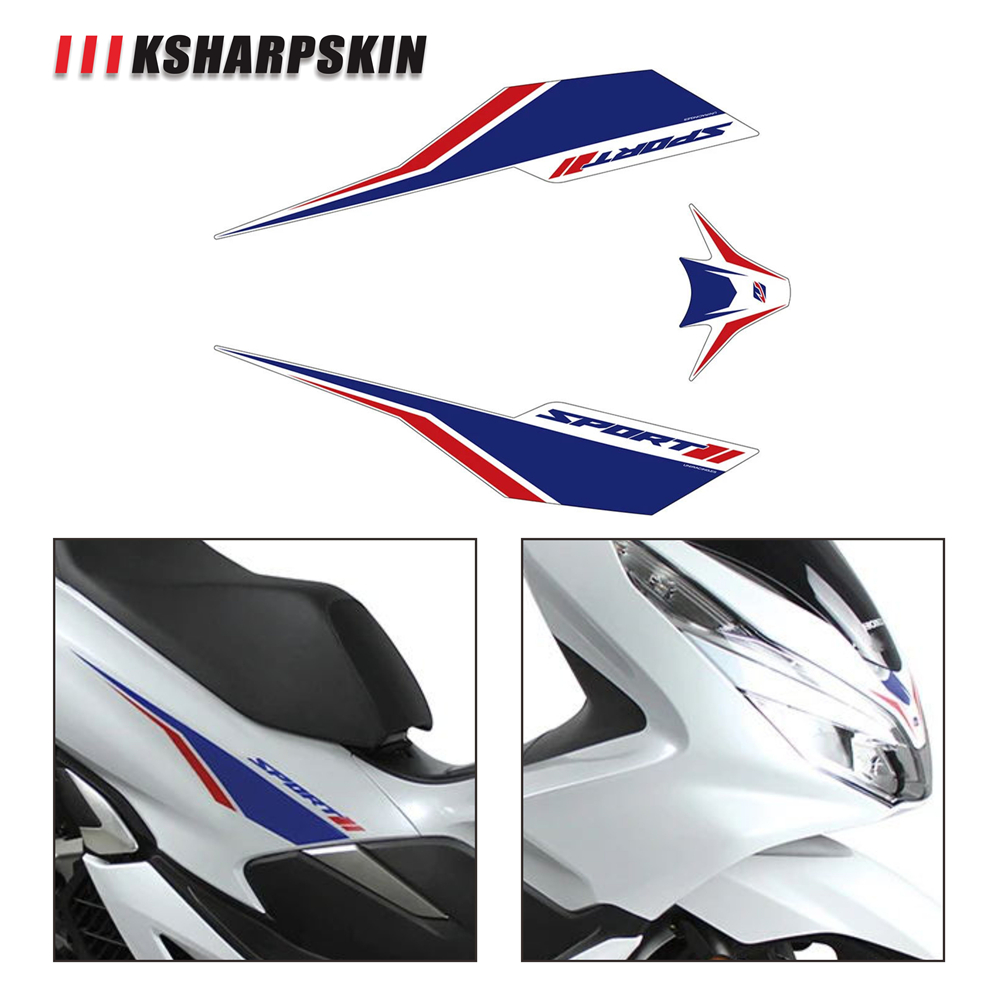 Stickers Kit Decal Stickers Honda Pcx 125 150 Racing Fairings Black Graphic