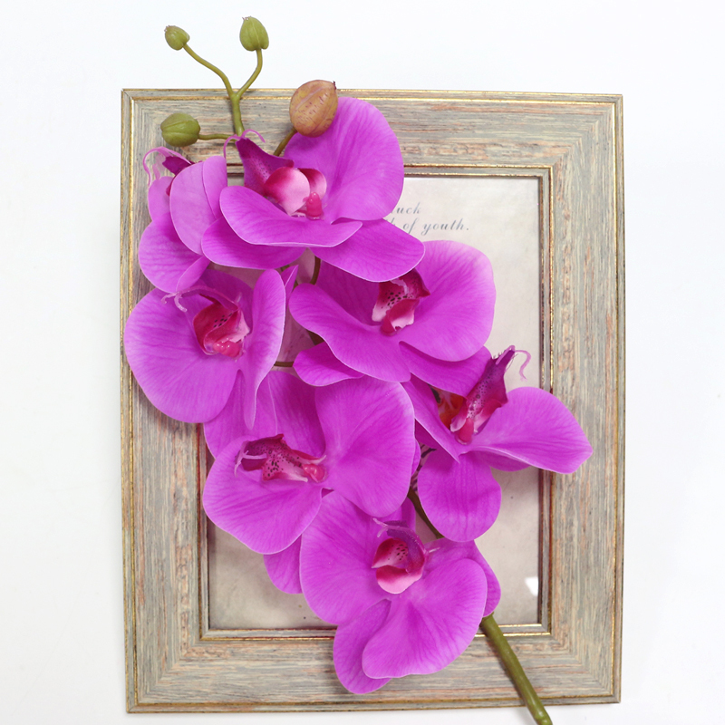 Artificial Orchid Flower 4 color Real Touch Artificial Butterfly Orchid flores artificial Wedding decoration home Festival Decor (22)
