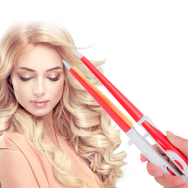 2 in 1 Hair Straightener Curler Ceramic Flat Iron Small Wave Curly Hair Iron Professional Straightening Iron Hair Styling Tools