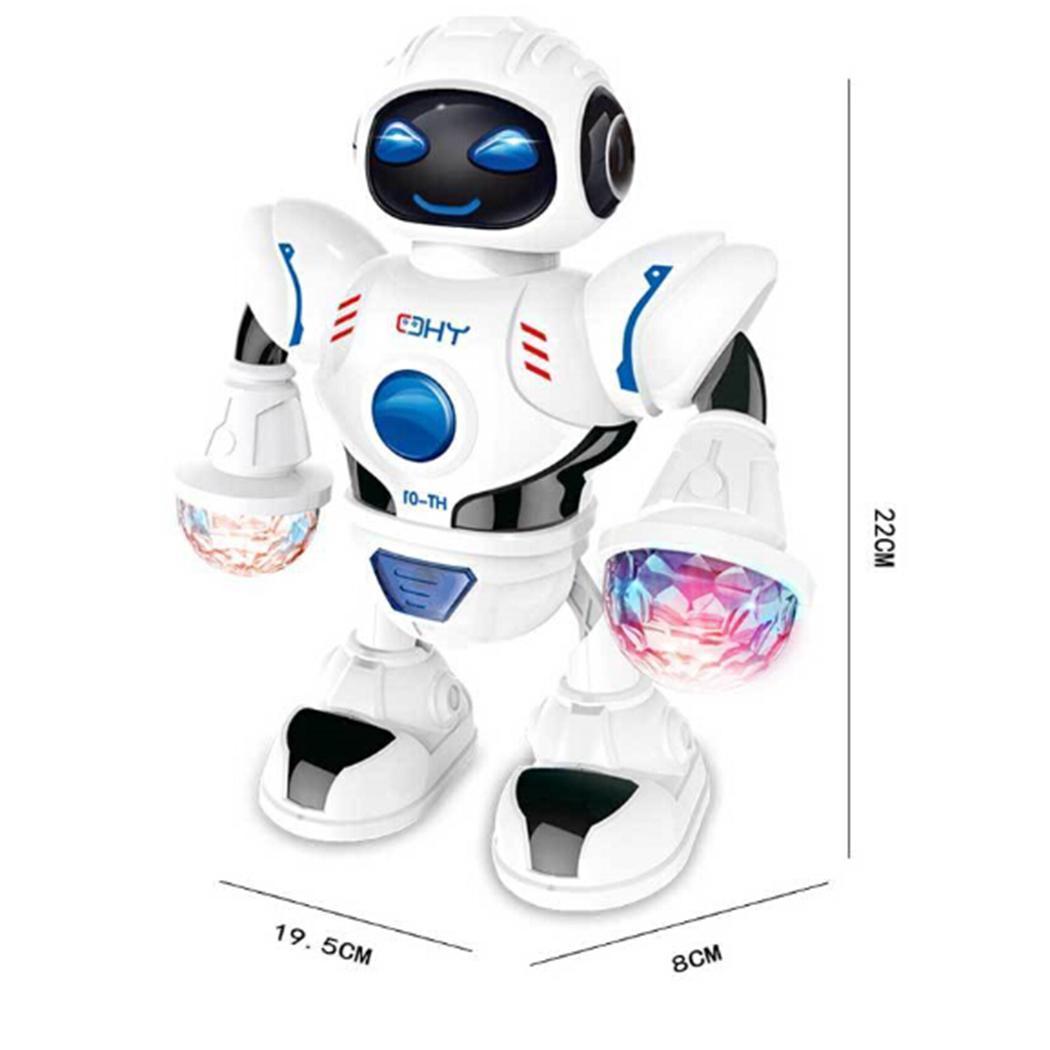 Robot inteligente de la moda nuevo juego del niño llevado de múltiples Dance Music Educación para niños juguetes nuevos de la manera juguetes aficiones