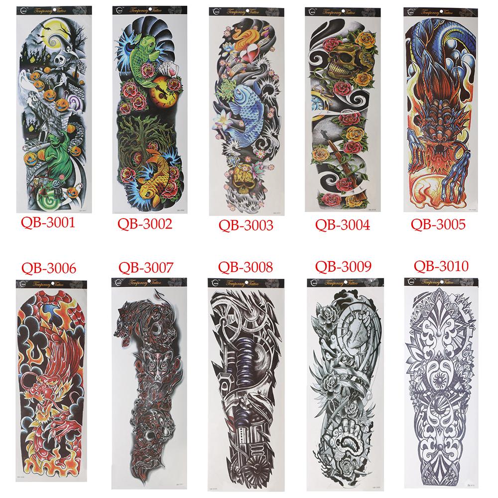 Temporary Tattoo Waterproof Sticker Nun Girl Pray Design Full Flower Arm Body Art Beckham Big Large Fake Tattoo Sticker