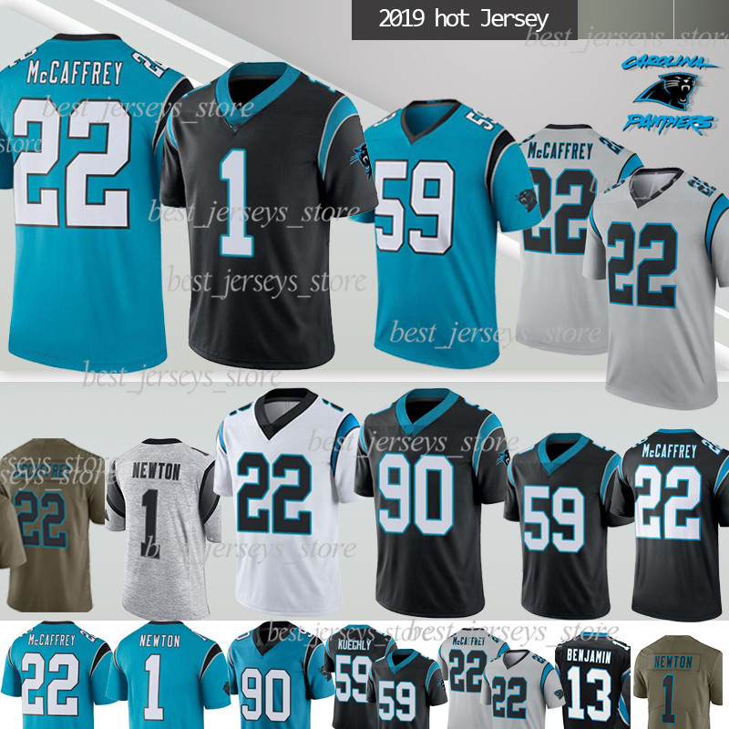 Rugby Jersey Carolina Panthers Rugby Jersey No.22 McCAFFREY Match Training Suit Mens T-Shirt