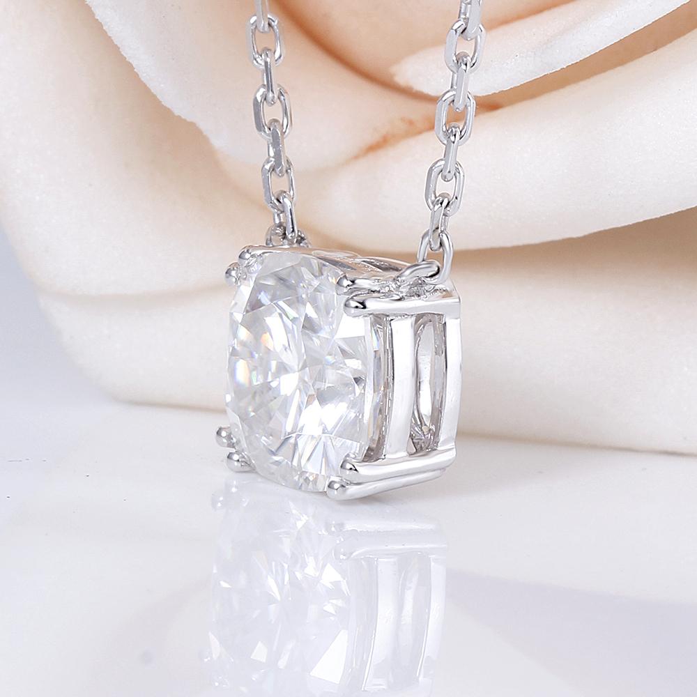 Ccushion cut moissanite pendant necklace (3)
