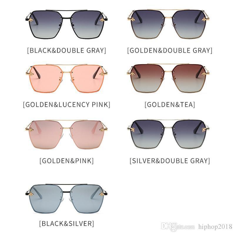 Fashion Mens Designer Polarized Sunglasses Womens Little Bee Sun Glasses UV400 Sunglasses With Case and Box