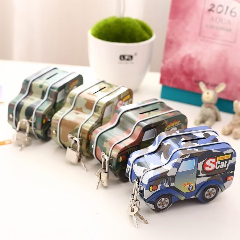 Mini Sparschwein Vintage Legierung Auto Spardose M/ünze Spartopf Kinder Geld Banken f/ür Wohnkultur Geschenk