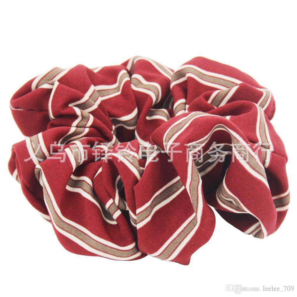 Ins 6 Renk Kadın Kızlar Şerit Şifon Elastik Halka Saç Kravatlar Aksesuarları At Kuyruğu Tutucu Hairbands Lastik Bant Scrunchies