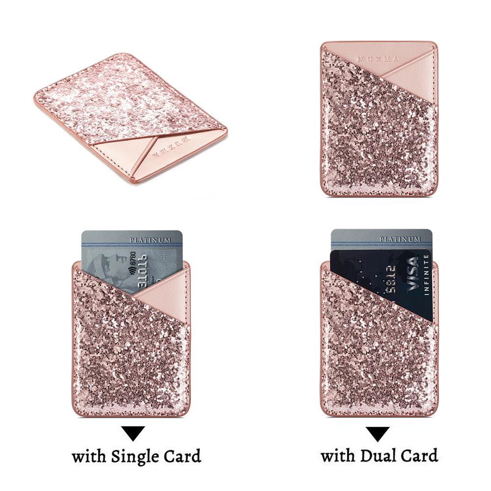 Deri Payetli Kart Tutucu Çanta Mini Cep Telefonu Kılıfı Kredi Kimlik Kartı Sahipleri Moda Kadınlar Için Değişim Bayanlar Çanta Cüzdan Çanta