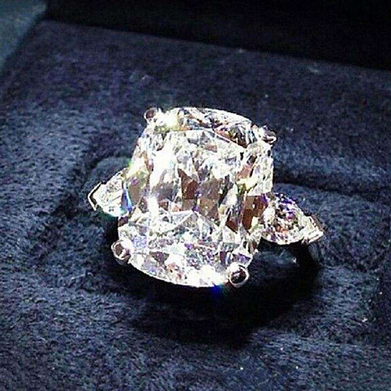Very Shiny Clear CZ Cubic Zirconia Cluster Rhombus Bridal Wedding Earring UK New