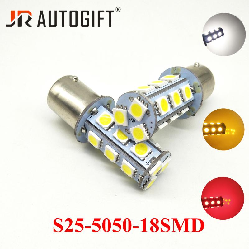 2 un 6V BA15S Amarillo 12 5050 LED Indicador Señal de Vuelta Bombilla 1156 P21W S25