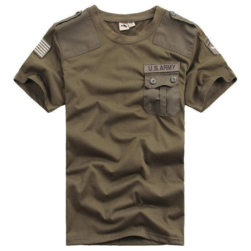 Hommes militaire armée sécurité Outdoor tactique 100/% Coton Shirt Chemise à manches longues