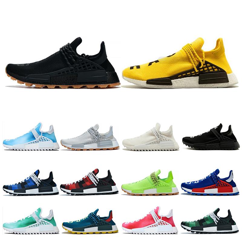 adidas nmd human race Designer Menschenrennen Hu Trail Pharrell Williams Herren Laufschuhe Creme Weiß Schwarz Damen Sneaker Trainer Sport Herren