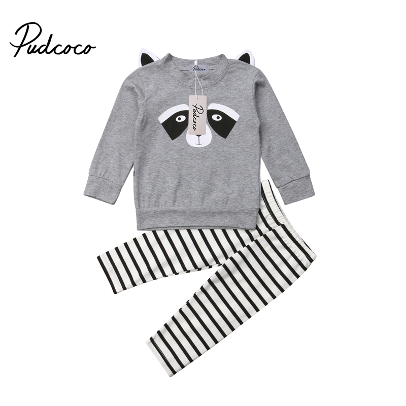 2PCS Toddler Kids Baby Girls Outfits Clothes Hoodie T-shirt Tops Long Pants Set