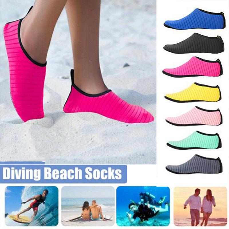 Unisex Adult Water Shoes Aqua Socks Diving Sock Pool Beach Swim Slip On Surf
