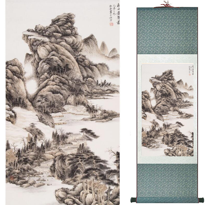 Old Fashion Painting Landscape Art Painting Chinese Traditional Art Painting China Ink Painting20190813010