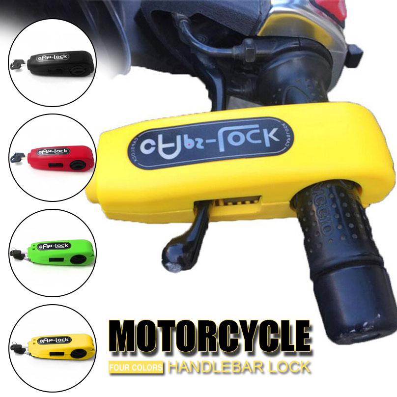 Shumo Universal Motorcycle Lock Scooter Handlebar Lock Brake Throttle Grip Anti Theft Security Locks Red