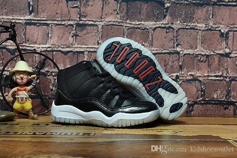 11s Concord 45 2018 Baby Little/big Kids Basketball Shoes Bred Gamma Blue Legend Blue Youth Boys Girls Outdoor Athletic Sneakers
