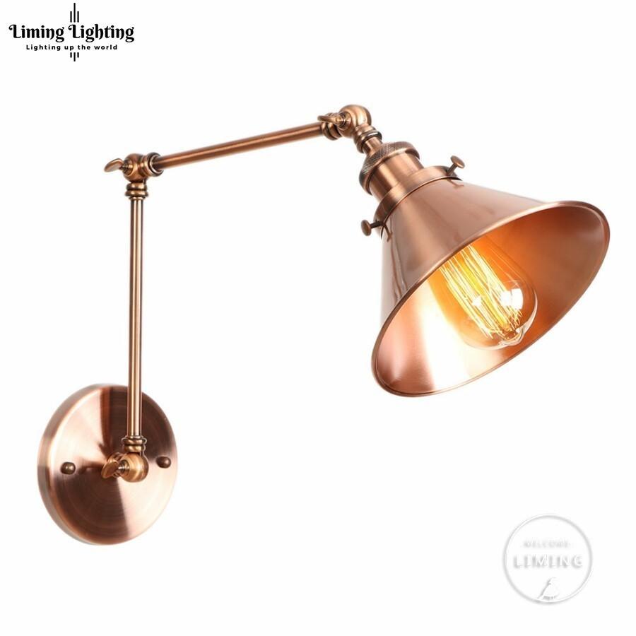 American Loft Wall Lamp Wall Lights Sconce Long Swing Arm Adjustable Retro Loft Metal Led Home Lighting For Bedroom/Restaurant