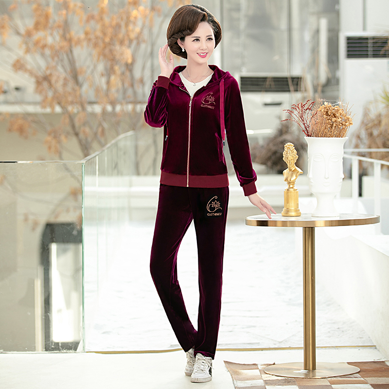 Women Tracksuits 2019Casual Sportsuits Plus Size XL~4XL 5XL 2 Pieces Women Clothing Sethoody+pants Women Clothing Track Suit (6)