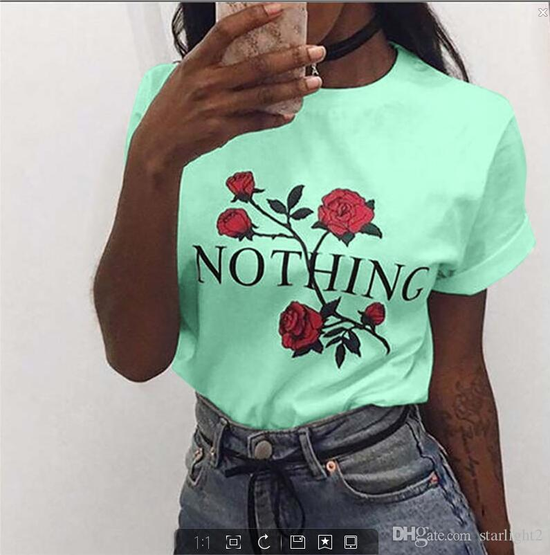 2019 New Women T-shirts Casual Harajuku printed pullover tops Tee Female T shirt Short Sleeve T shirt For Women Clothing