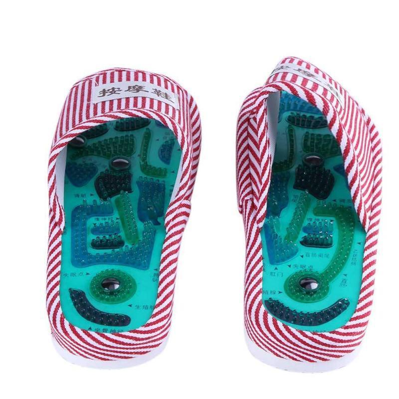 Acupuncture Foot Massage Slippers Health Shoe Reflexology Magnetic Sandals Acupuncture Healthy Feet Care Massager Magnet Shoes D19011203