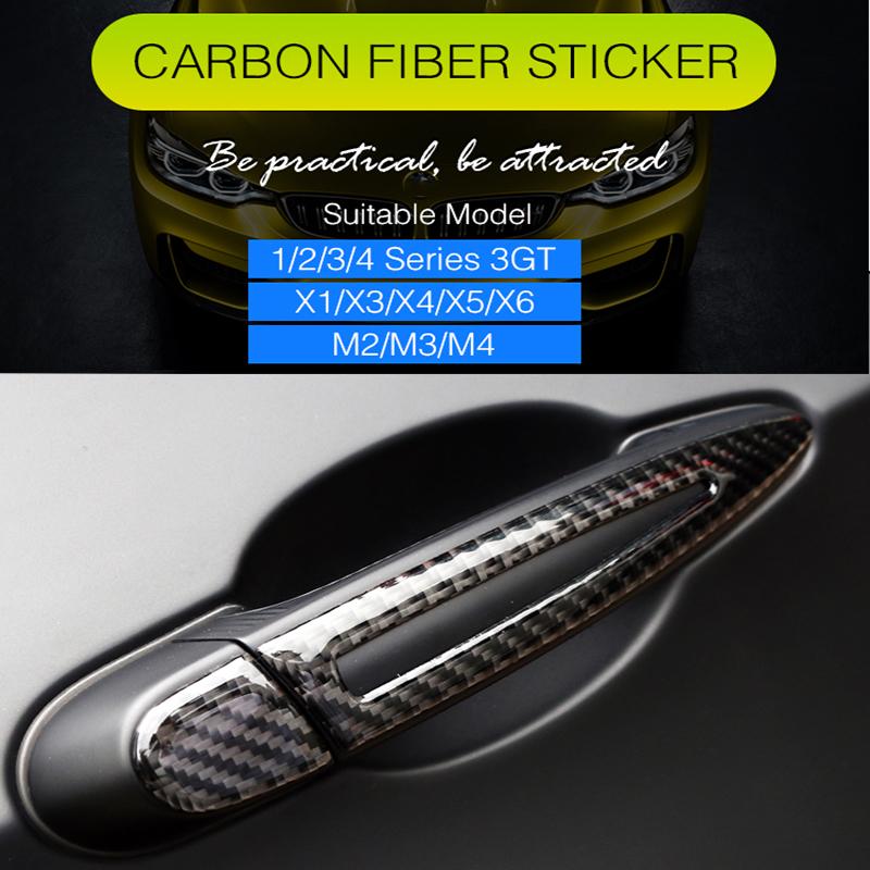 Kimiss Tirador de la puerta cubierta decoraci/ón adorno para 2017-2018 fibra de carbono