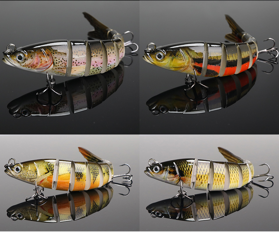 VTAVTA 14cm 23g Sinking Wobblers Fishing Lures Jointed Crankbait Swimbait 8 Segment Hard Artificial Bait For Fishing Tackle Lure 09