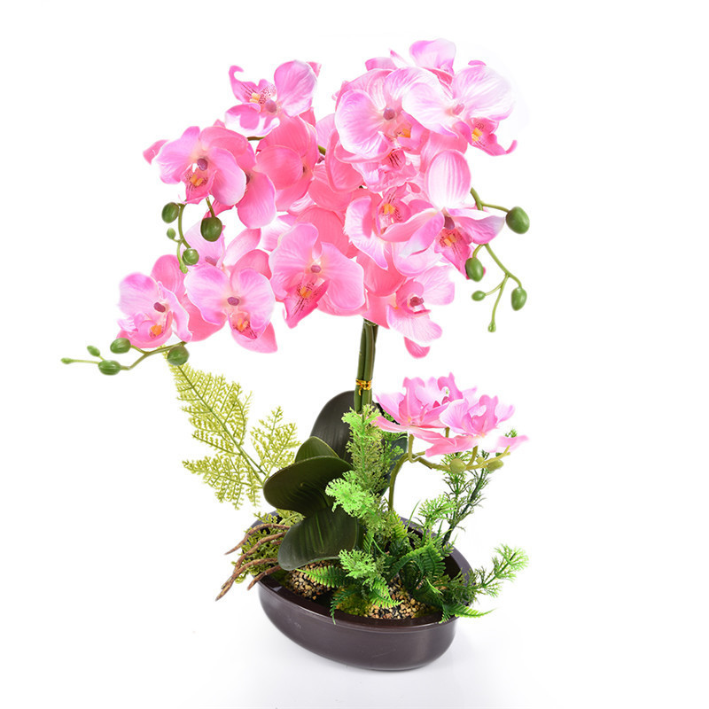 Creative Artificial Flower Plant Potted Bonsai Gift Fake Butterfly Orchid Flowers Plants For Wedding Home Decor Y19061103