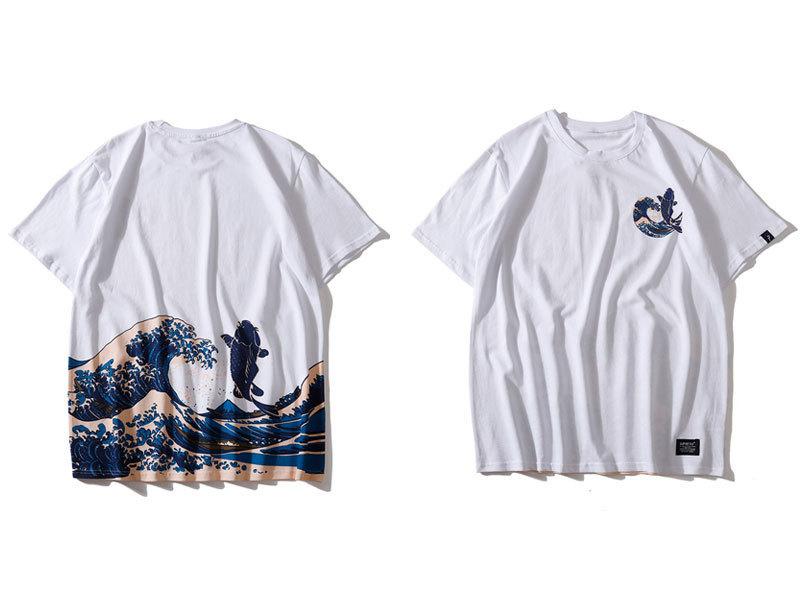 Japanese Ukiyo E Koi Printed Tshirts 2