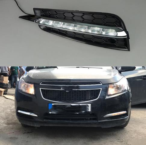 Pour Chevrolet Cruze 2009-2014 Nouveau Pare-chocs avant Foglight Grill Paire Set