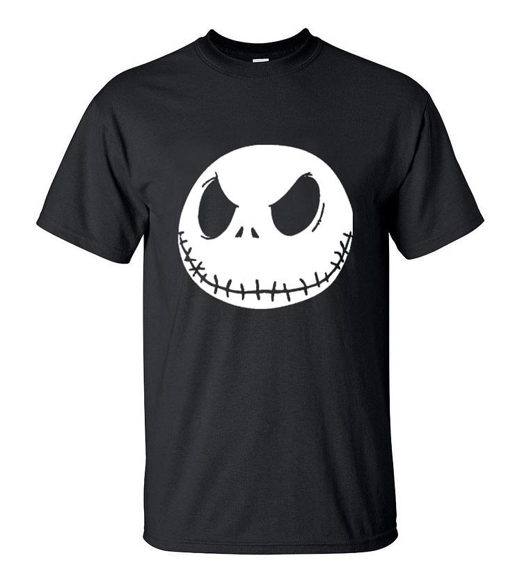 nightmare before christmas cartoon JackSkellingtonMen TShirt Grimace 2019Summer New 100% Cotton Hip HopStreetwear T-Shirt