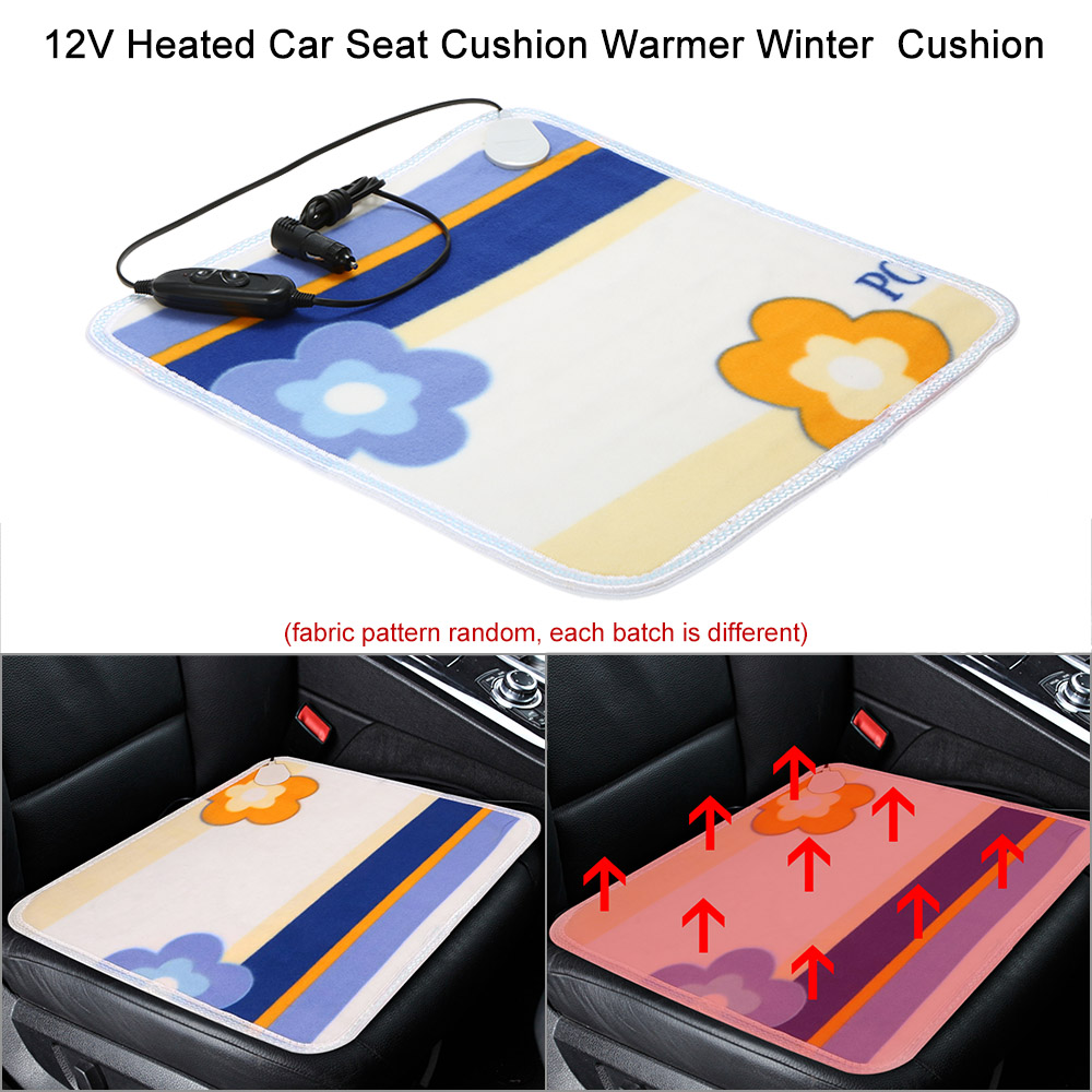 4pcs asiento calefacción calefacción asiento cojín 6 niveles universal 12V almohadilla térmica de carbón