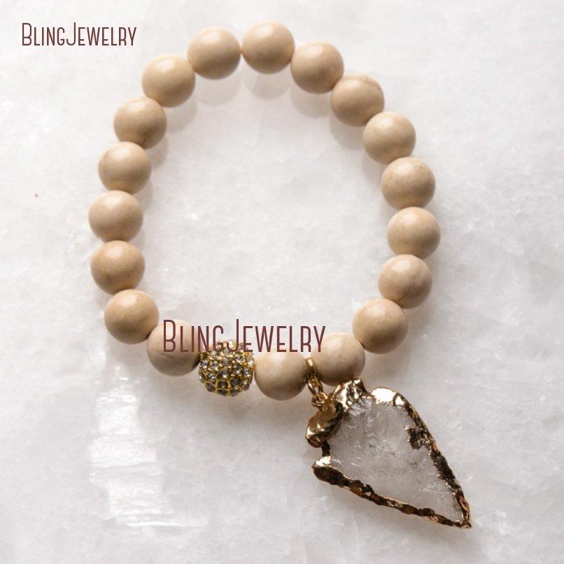20181201-BM17426-Latest Arrowhead Clear Crystal Bracelet On Sale