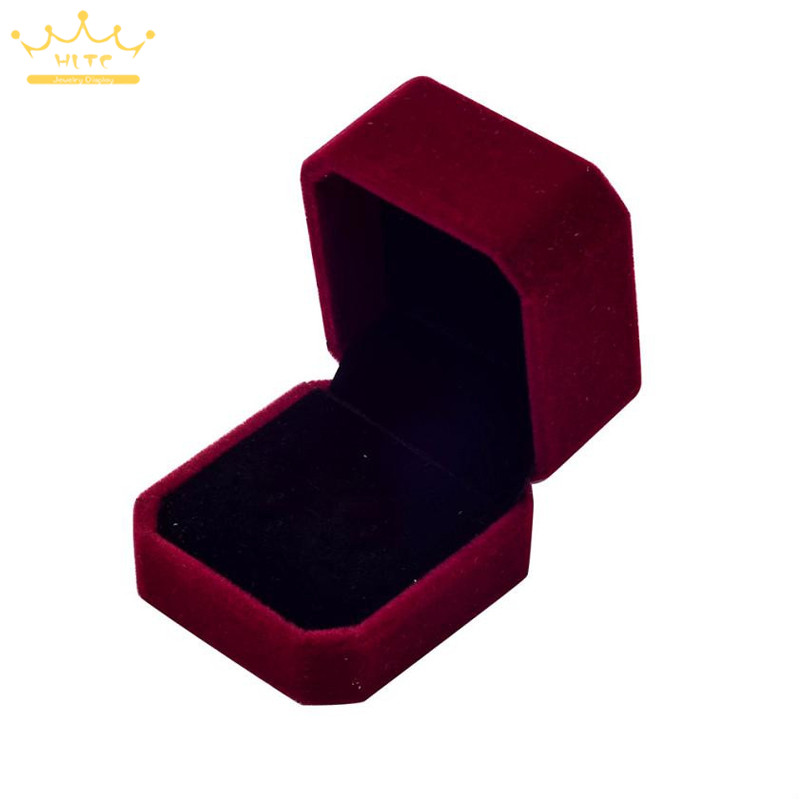 Engagement Velvet Ring Box Jewelry Display Storage Foldable Case For Wedding Ring Valentine's Day Gift Organizer