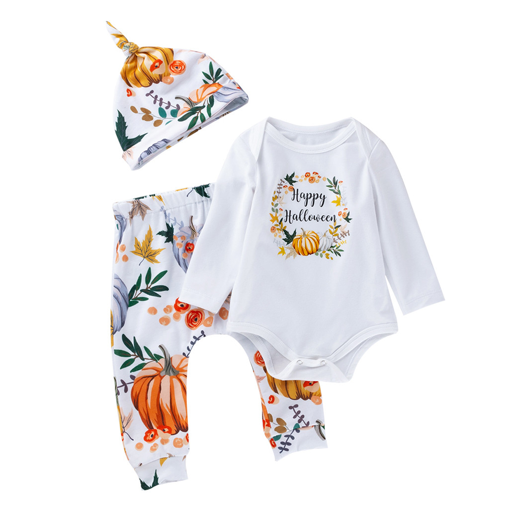 Halloween Baby Costumes,Baby Boys Clothes Romper,for 3-24 Months,Halloween Toddler Baby Long Sleeves Skull Print Romper Infant Jumpsuit