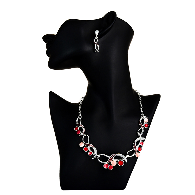 Cring CoCo 2020 Jewelry Sets Infinity Geometric Necklace Choker Girl Party Wedding Drop Dangle Earrings Jewelry Set for Women