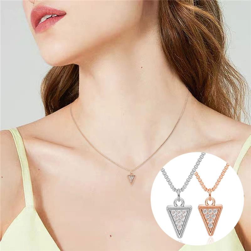 MUZI Menss Fashion Stainless Steel Triangle Shield Tag Pendant Necklace with Chain