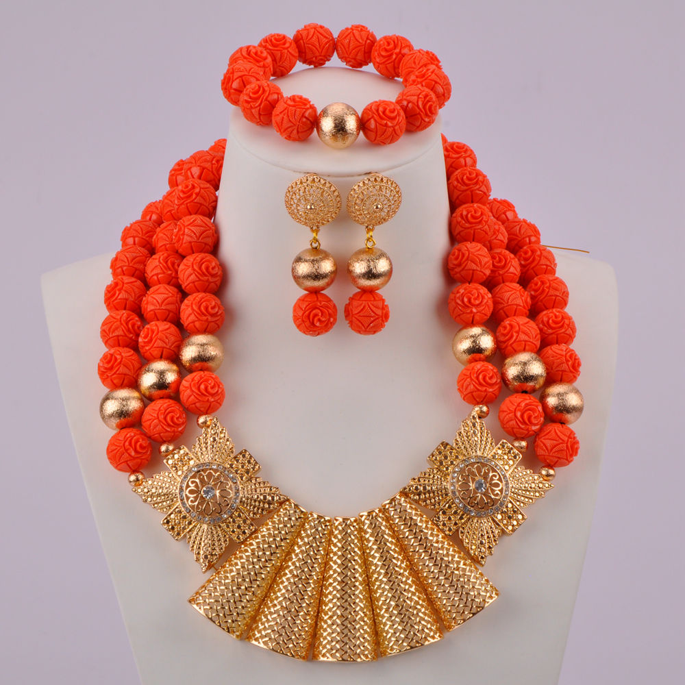 Orange Artificial Coral Beads-02-170 (2)