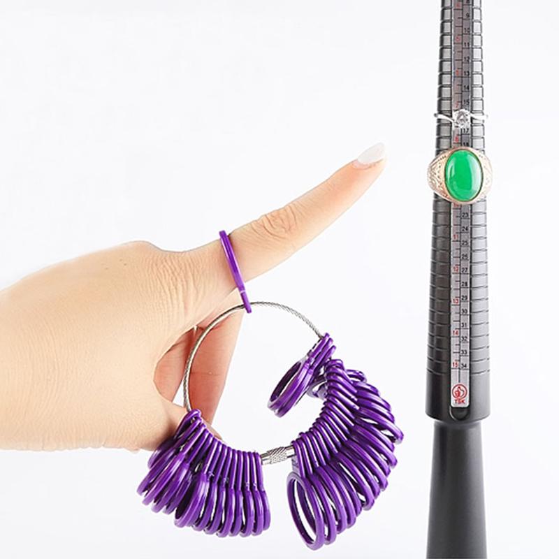Ring Sizer Stick /& dedo anular calibre kit conjunto de medición-Joyería Herramienta