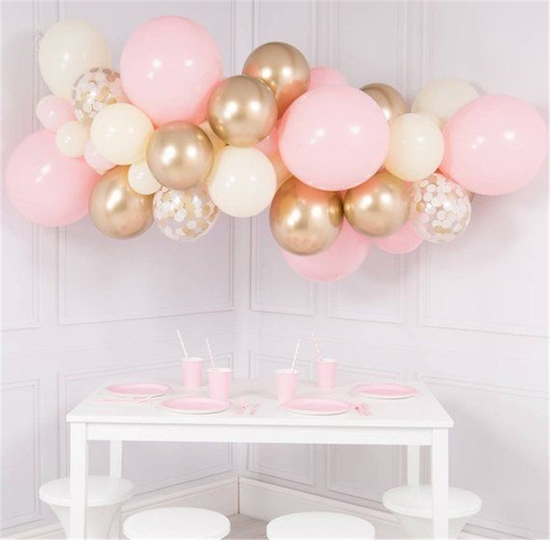 Set 1 Pink Peach Gold Balloon Cloud (3)