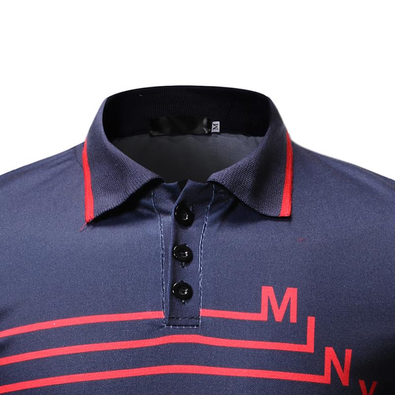 2019 New Fashions Brands Polo Men Stripe Short Sleeve Slim Fit Summer Collar Shirt Polos Boys Casual Mens Clothing C19041501