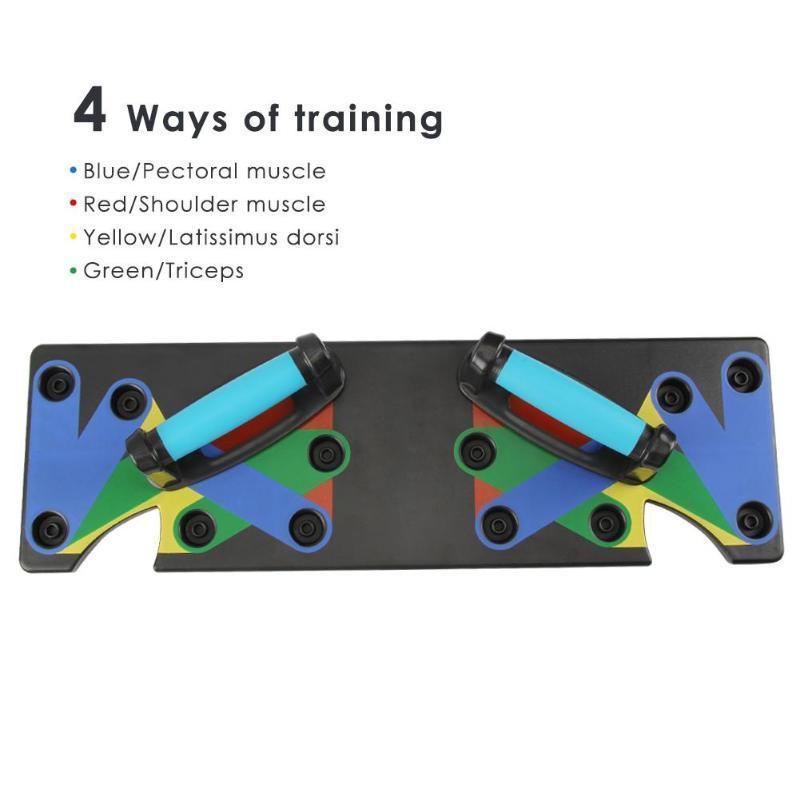 Push Up Rack Board Мужчины Женщины 9 Система Комплексная Фитнес-Упражнения Тренировки Push-up Стенды Бодибилдинг Тренажерный Зал T190724