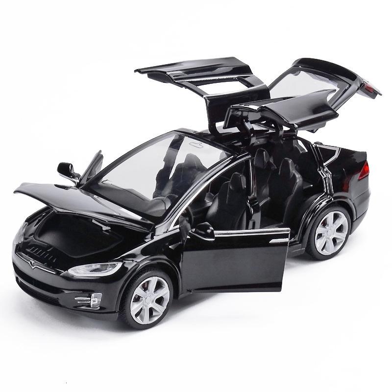 Moulages 1:32 Tesla X90 Alliage Voiture Modèle véhicules Tirez voiture jouet /& lumière sonore