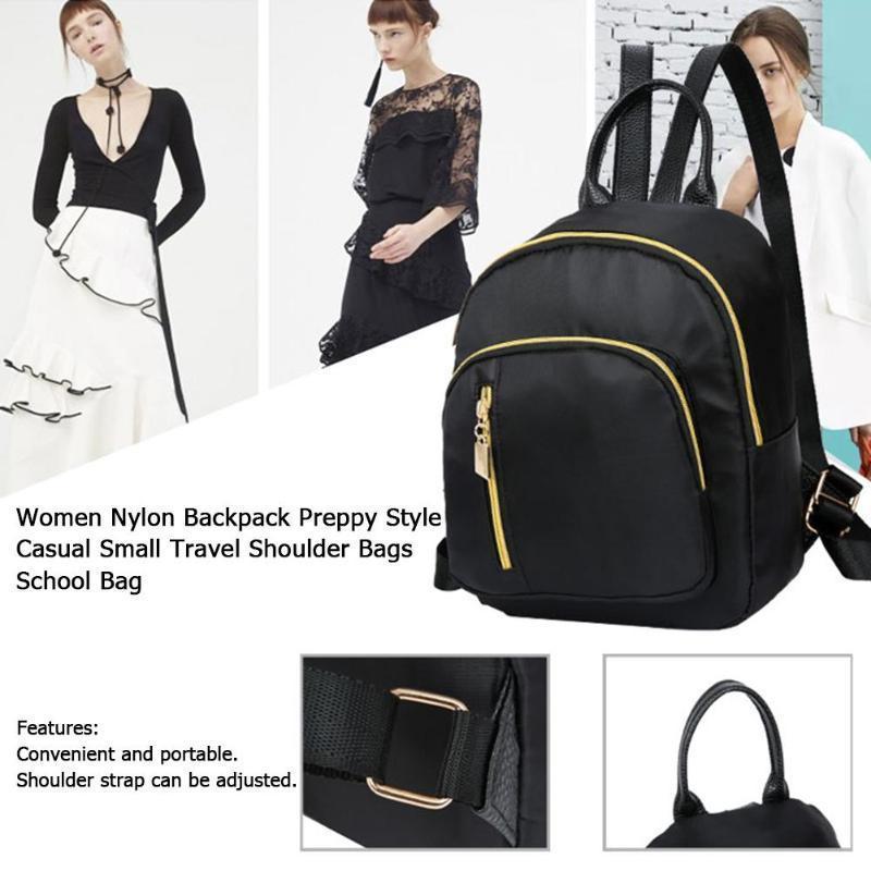 Moda femminile Zaino Preppy Casual Mini zaino da viaggio Borse a spalla le donne 2019 Mochila Feminina Solid Women's Backpack