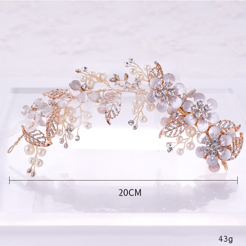 Pearl Flower Bridal Hair Clips Headbands Wedding Hair Jewelry Elegant Pearl Flower Bride Hairpins Exquisite Head Adornment
